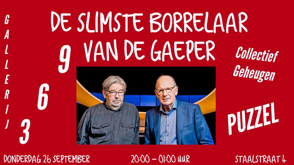 Donderdag 26-9 om 20:00 uur in café de Gaeper.